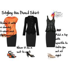 """""""Styling the Pencil Skirt"""" by imogenl on Polyvore"""