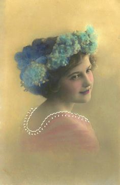 Vintage Girl Photo Postcard ~ PJH Designs Hand Painted Antique Furniture: Free Graphic Wednesday #48
