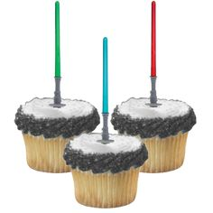 Light Saber Cup Cake Picks http://partyzone.com.au/boys-party-themes-star-wars-party-supplies-biggest-range-c-228_335.html