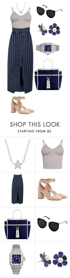 """""""Untitled #109"""" by shinrashuya on Polyvore featuring EF Collection, BasicGrey, RED Valentino, Melissa Odabash and Cartier"""