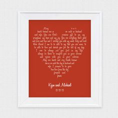 wedding vow art love heart - printable file - lyrics valentines day