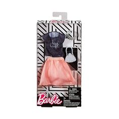 Barbie Complete Looks Tulle Skirt & Black Top Fashion Pack Vintage Barbie Clothes, Doll Clothes Barbie, Barbie Toys, Barbie I, Barbie Chelsea Doll, Barbie Playsets, Made To Move Barbie, Little Girl Toys, Barbie Fashionista Dolls
