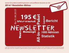 Kundendialog mit der All-In-Newsletter-Aktion  nur 195 €! Mehr unter http://www.profect-marketing.de/ueber-uns/aktuelles/