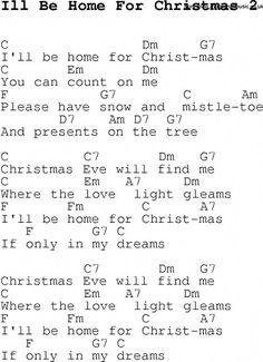 Christmas Songs and Carols, lyrics with chords for guitar banjo for Ill Be Home For Christmas 2 Ukulele Songs Beginner, Easy Guitar Songs, Uke Songs, Music Guitar, Guitar Tips, Guitar Lessons, Guitar Notes, Music Music, Christmas Ukulele Songs