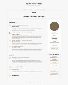 Great clean, simple design but still has some great subtle details!   Connecto — Modern vCard/Resume PSD Template by Serge Mistyukevych , via Behance