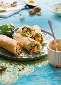 California-Wraps, ein vollwertiges Energiebündel mit Lachs, Avocado und rohen Blumenkohlraspeln - da greift jeder gerne zu.