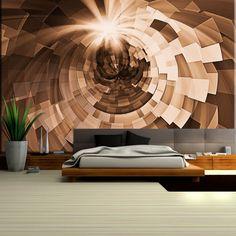 Abstrakcyjna fototapeta z przestrzennym tunelem - stylowa oraz nowoczesna dekoracja.