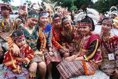 Traditional dresses of the T'Boli's. An Indigenous tribe in Southern Philippines