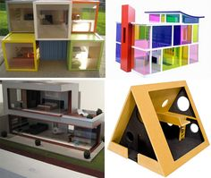 modern dollhouses - Oh good grief, I'm so lucky I didn't see these when I was 10!
