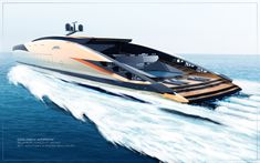 Luxury Yacht Interior, Luxury Yachts, Yacht Design, Boat Design, Concept Ships, Concept Cars, Yatch Boat, Amphibious Vehicle, Naval