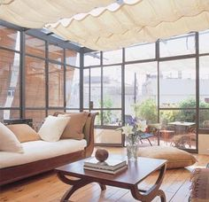 Terrazas cerradas on pinterest ideas para waiting room - Cortinas para terrazas exteriores ...