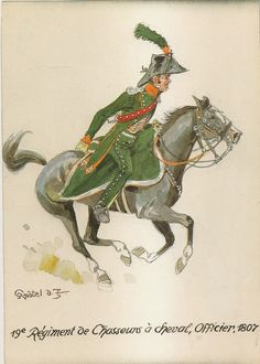 french 19th chasseurs a cheval officer 1807