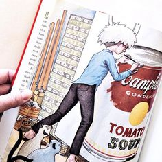 Andy Warhol had a house full of cats. all named Sam. Uncle Andy's Cats is a fun and informative book about the quirky pop art icon. Art History Lessons, History For Kids, Art Lessons, Art Books For Kids, Art Curriculum, Kids Class, Art Icon, Andy Warhol, Projects For Kids