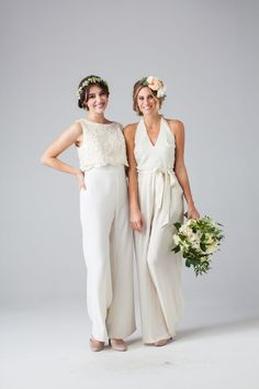 Bridesmaid outfit with jumpsuit - 23 stylish wedding ideas Dessy Bridesmaid, Red Bridesmaids, Bridesmaid Outfit, Bridesmaid Jumpsuits, Bridesmaid Ideas, Wedding Pantsuit, Wedding Suits, Wedding Attire, Wedding Dresses