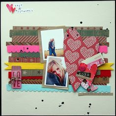 Great way to use up scraps and border stickers I have hanging around