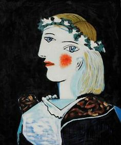 Portrait of Marie-Thérèse Walter with Garland  (1937) by  Pablo Picasso