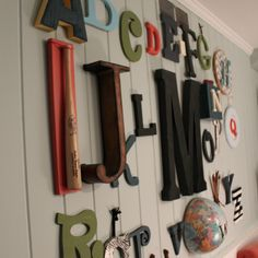 southern state of mind: Pinterest Mission: Larger-Than-Life Alphabet Wall