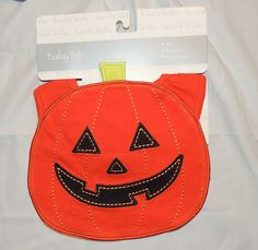 NEW Unisex Baby Halloween Bib, Jack O Lantern, Pumpkin Fall, October #KoalaKids