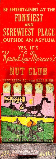 Cover vintage matchbook