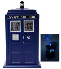 Doctor Who TARDIS Teen Gifts: Projection Alarm Clock @ Amazon