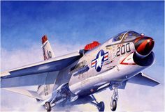Best F-8 Crusader artwork ever! (Shigeo Koike for Hasegawa model kit)
