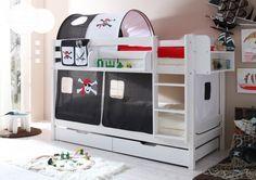 Pirate bunk bed LILOKIDS white / Kinder Etagenbett WEIß