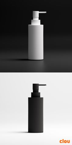 black and white design soap dispenser by Clou