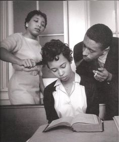 Because the real glamour is strength and courage-  This photo is of a girl training to ignore white people pulling on her hair and blowing smoke in her face. Pretty morbid, but what an amazing photo.