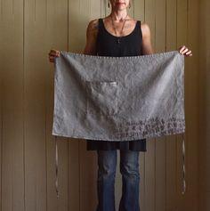 Caraway Hemp Half Apron   untold imprint handmade textiles
