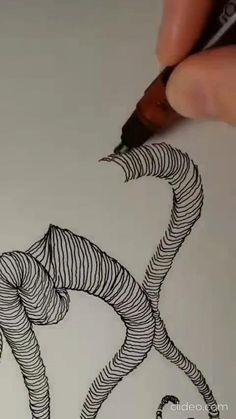 Cool Art Drawings, Pencil Art Drawings, Art Drawings Sketches, Arte Viking, Illusion Drawings, Art Sculpture, Zen Art, Drawing Techniques, Doodle Art
