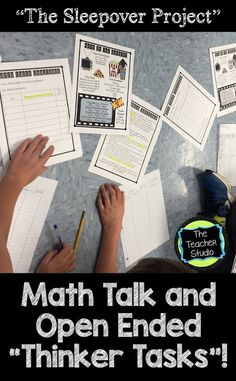 Math Talk, Open Ended Problems--and Thinking Backwards!
