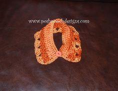 Posh Pooch Designs Dog Clothes: Pumpkin Spice Dog Collar Crochet Pattern | Posh Pooch Designs
