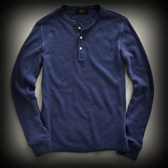 ダブルアールエル メンズ ポロシャツ RRL Long Sleeve Waffle Henley ヘンリーポロシャツ-アバクロ 通販 ショップ-【I.T.SHOP】 #ITShop