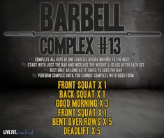 BARBELL COMPLEX #13
