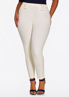 cd0f1544758 Fashion Bug Lace Up Pant  FashionBug  PlusSize  Pants www.fashionbug.us