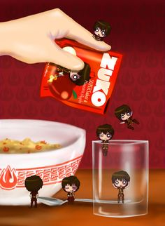 """Would you like a cup of Zuko?"" ""Oh yes, I love having  a Zuko early in the morning."" ""How do you want your Zuko?"" ""Hot and long hair, with a nice bowl of Fire Flakes ;P"