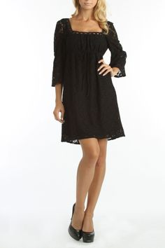 Laundry by Shelli Segal Juliette Dress In Black - love the simplicity and the cut but with a hot pair of shoes you can transform it into a great night out dress