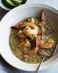 Shrimp in Coconut Milk | Contributed By: Quick From Scratch Herbs & Spices | Coconut and cilantro are a popular duo. The herb is a favorite in India and shows up in coconut chutneys and in many of southern India's coconut curries, such as this one. Serve the shrimp with steamed rice, preferably basmati. | From: foodandwine.com