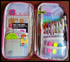 Filofax: Planning On-The-Go Cool Office Supplies, Cute School Supplies, Household Binder, Packing Tips For Vacation, Kids Room Organization, School Essentials, Pencil Bags, Island Girl, School Backpacks