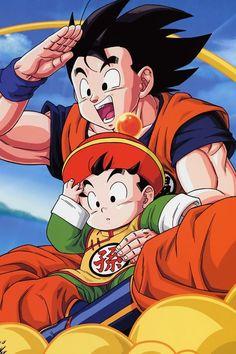 Goku y gohan dbz Dragon Ball Gt, Kuroko, Goku And Gohan, Son Goku, Dbz Vegeta, Manga Anime, Manga Dragon, Super Anime, Anime Costumes