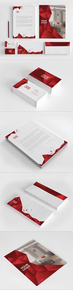 Interior Design Stationery Pack. Download here: http://graphicriver.net/item/modern-stationary-pack/4852152?ref=abradesign #stationery #design