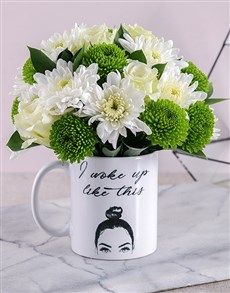 flowers: I Woke Up Like This Mixed Arrangement! Womens Day Gift Ideas, Same Day Delivery Service, Balloon Gift, Mothers Day Flowers, Flowers Online, Flower Arrangements, Balloons, Table Decorations, Mugs