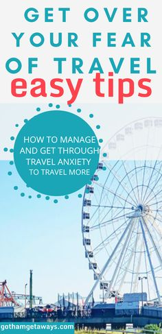 Are you struggling with travel anxiety or are scared to travel? These tips will help you get over your fear and stop travel anxiety in its tracks. How to get over fear and travel more. #travel #traveling #travelanxiety #traveltips