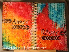 By Carole Dion, DT Magenta: Journal d'artiste et les Nuances / Art Journal Page with Nuance