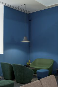 Log Lounge and Log Sofa   Soft sculpture #Pedrali #green #blue