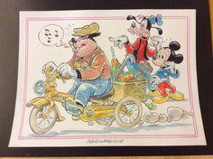 """Mickey Mouse - Illustrazione originale - """"Gambadilegno - Catawiki"""