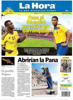 Los temas que se destacan son: Pase al mundial se civina en Barranquilla, Se perdió Pegaso y Abrirían la Pana.