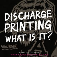 Discharge screen prints are all the rage and they look awesome! Read more right here: awsmr.ch/DischargePrints #blog #screenprinting