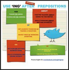 "Forum | ________ English Grammar | Fluent LandUsing ""ING"" after Prepositions | Fluent Land"