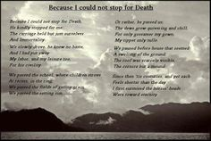 An analysis of death in because i could not stop for death a poem by emily dickinson